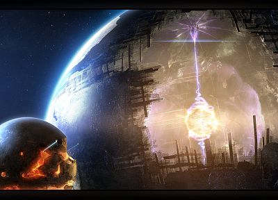 outer space, dyson, artwork, dyson sphere - related desktop wallpaper