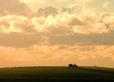 clouds, landscapes, nature, fields, farms - random desktop wallpaper