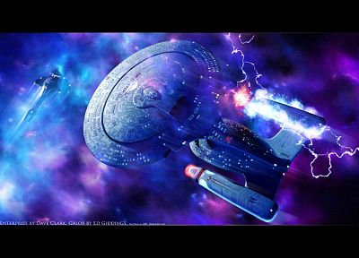 Star Trek, galaxies, USS Enterprise - random desktop wallpaper