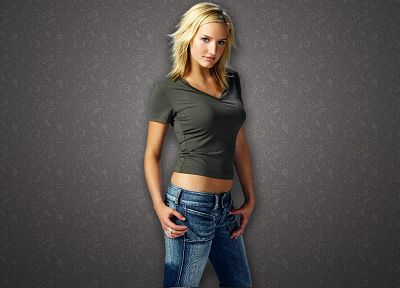 women, jeans, Ashlee Simpson - random desktop wallpaper