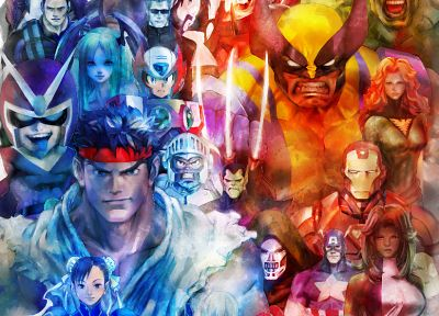 Street Fighter, Capcom, Marvel vs Capcom, Marvel Comics - related desktop wallpaper