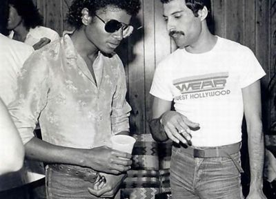 Freddie Mercury, Michael Jackson - desktop wallpaper