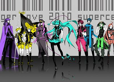 Vocaloid, military, Hatsune Miku, Megurine Luka, Kaito (Vocaloid), Kagamine Rin, Kagamine Len, Love is War, anime boys, Megpoid Gumi, Miwa Shirow, SF-A2 Miki, Meiko, anime girls, Kamui Gakupo - desktop wallpaper