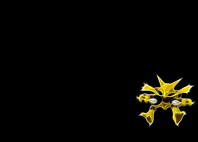 Pokemon, Alakazam, black background - desktop wallpaper