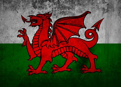 grunge, flags, Wales - random desktop wallpaper