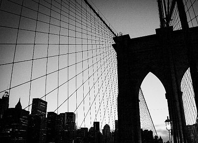 bridges, New York City - random desktop wallpaper