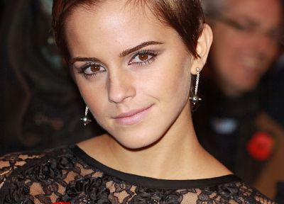 brunettes, blondes, women, Emma Watson, actress, short hair, British - related desktop wallpaper