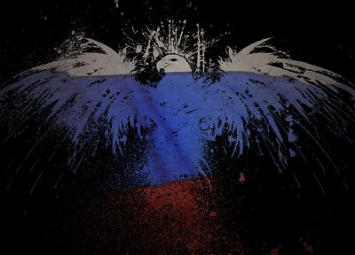 Russia, eagles, flags - related desktop wallpaper