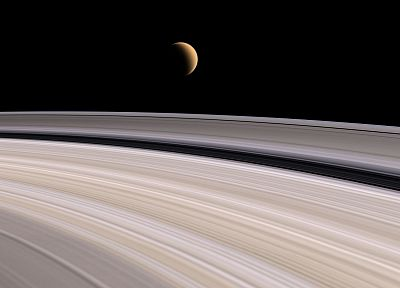 Solar System, planets, rings, Saturn - random desktop wallpaper