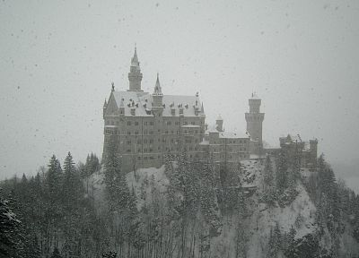 winter, snow, castles - desktop wallpaper