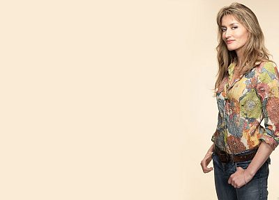 blondes, women, jeans, blue eyes, actress, Karen, Californication, TV series, Natascha McElhone, Showtime - random desktop wallpaper