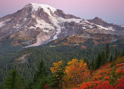 sunrise, paradise, National Park, Washington, Mount - random desktop wallpaper
