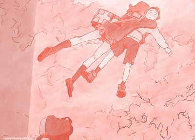 FLCL Fooly Cooly, school uniforms, sailor uniforms, Nandaba Naota, Samejima Mamimi - random desktop wallpaper