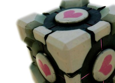 video games, Valve Corporation, Portal, Companion Cube, Portal 2 - related desktop wallpaper