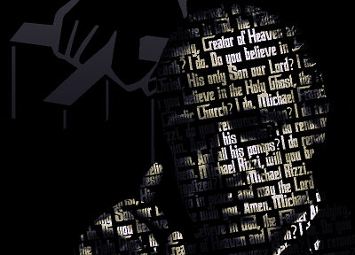 movies, The Godfather, typographic portrait - related desktop wallpaper