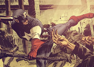 Captain America, artwork, Marvel Comics - random desktop wallpaper