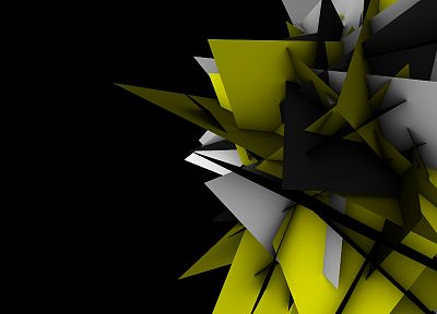 abstract, shapes, geometry, digital art, black background - related desktop wallpaper