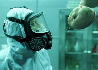movies, gas masks, chimera, Splice - desktop wallpaper