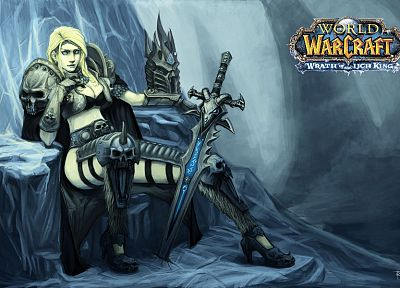 World of Warcraft, Lich King, High Elf - desktop wallpaper