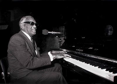 music, piano, grayscale, Ray Charles - related desktop wallpaper