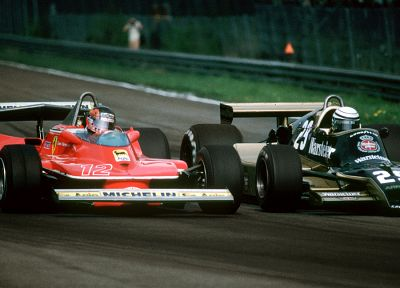 Ferrari, Formula One, vehicles, arrows, Gilles Villeneuve - desktop wallpaper