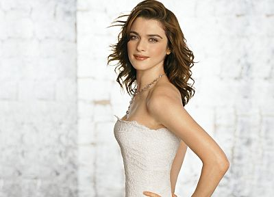 brunettes, women, actress, Rachel Weisz, white background - desktop wallpaper