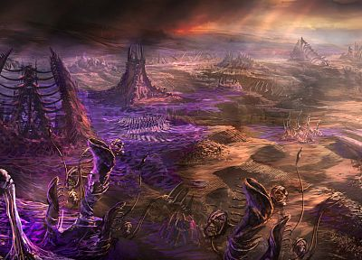 fantasy art, StarCraft II - random desktop wallpaper