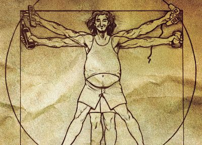parody, Vitruvian Man - random desktop wallpaper