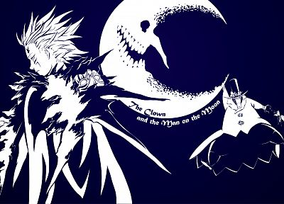 manga, D.Gray-man, blue background - random desktop wallpaper