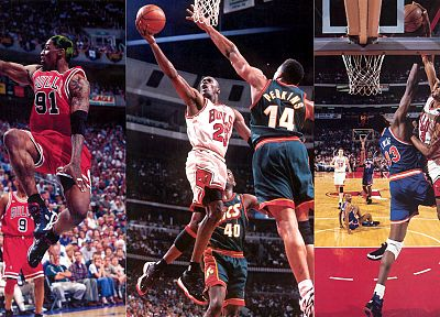 sports, NBA, basketball, Michael Jordan, Chicago Bulls, Dennis Rodman, Scottie Pippen - related desktop wallpaper
