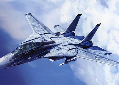 aircraft, Macross, artwork, vehicles, skyscapes, Grumman F14 Tomcat - related desktop wallpaper
