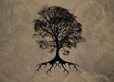 trees, silhouettes, roots - related desktop wallpaper