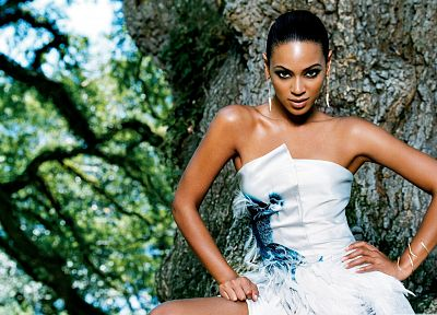 brunettes, women, black, black people, dress, Beyonce Knowles - desktop wallpaper