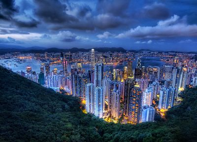 cityscapes, buildings, Hong Kong - random desktop wallpaper