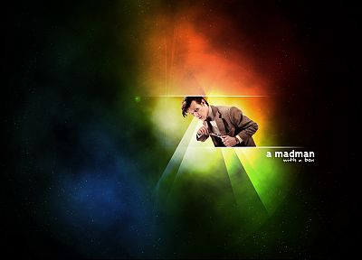 outer space, text, Matt Smith, rainbows, Eleventh Doctor, Doctor Who - related desktop wallpaper
