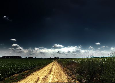 clouds, landscapes, nature, roads, panorama, n95, blue skies - desktop wallpaper