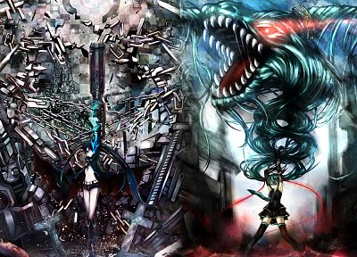 Vocaloid, Black Rock Shooter, Hatsune Miku - random desktop wallpaper