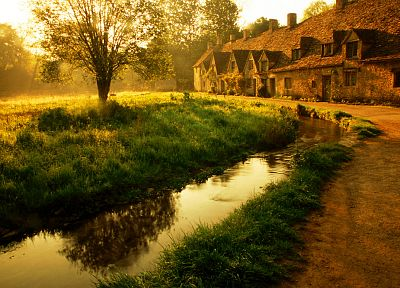 landscapes, garden, houses, ponds - related desktop wallpaper