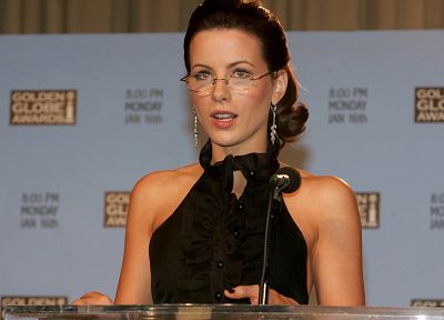 women, glasses, Kate Beckinsale, girls with glasses - random desktop wallpaper