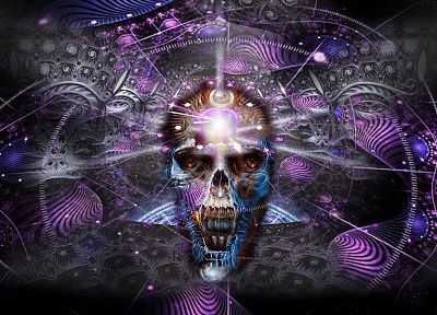 skulls, DMT, vision, alex grey - desktop wallpaper