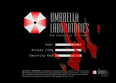 Resident Evil, Umbrella Corp. - random desktop wallpaper
