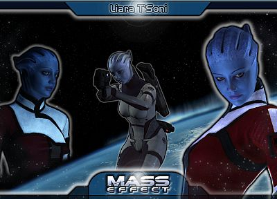 video games, Mass Effect, Liara TSoni - duplicate desktop wallpaper