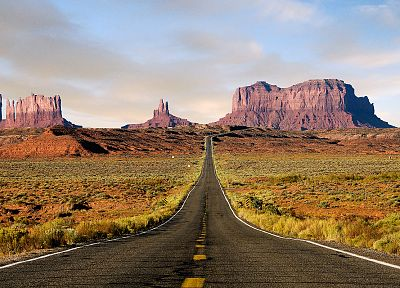 mountains, landscapes, nature, deserts, roads - desktop wallpaper