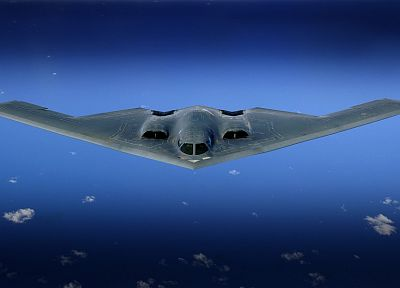aircraft, bomber, stealth bomber, skyscapes, B-2 Spirit - random desktop wallpaper