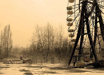 Pripyat, ferris wheels - related desktop wallpaper