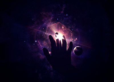 abstract, outer space, palm, hands - related desktop wallpaper