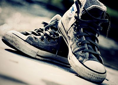 shoes, Converse, bokeh, sneakers - related desktop wallpaper