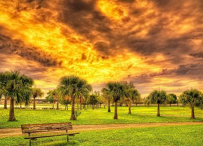 clouds, landscapes, nature, trees, fields, HDR photography, skyscapes - related desktop wallpaper