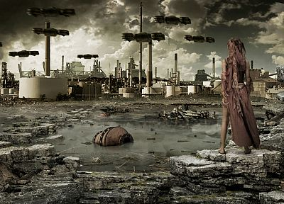ruins, cityscapes, desolate - related desktop wallpaper