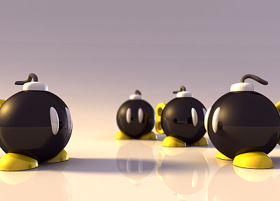 bombs, Super Mario - random desktop wallpaper